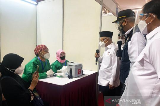 Wapres tinjau sentra vaksinasi Dewan Ketahanan Nasional