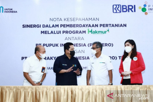 BRI dan Pupuk Indonesia berdayakan petani melalui Program Makmur