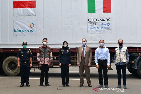 Indonesia terima bantuan 796.800 dosis vaksin dari Italia