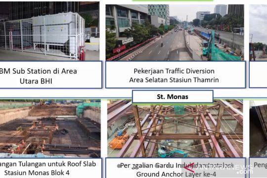 Pembangunan Stasiun MRT Thamrin-Monas capai 21,3 persen