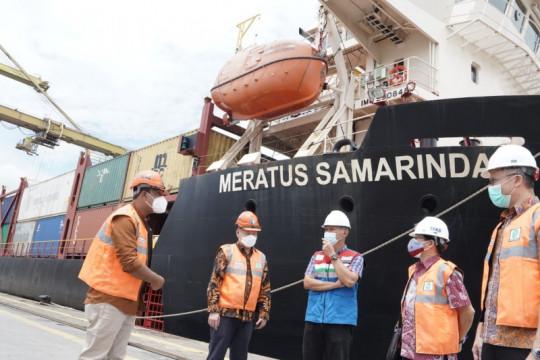 Pelindo I Belawan layani ekspor perdana Kapal Meratus ke Malaysia