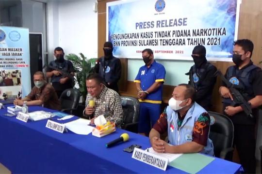 Amankan 1 kg sabu, BNNP Sultra tangkap pengedar narkotika di Kolaka