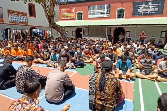 Antisipasi kebakaran, Polda Banten cek kondisi Rutan Serang