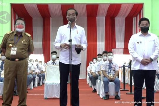 Presiden minta vaksinasi di Lampung digencarkan