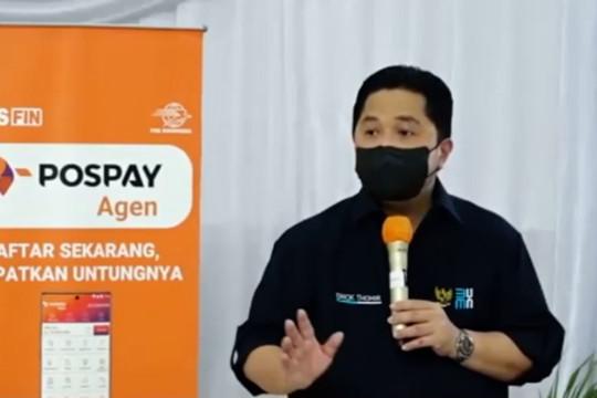 Erick Thohir: PT Pos Indonesia tulang punggung saat pandemi