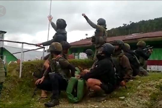 Kontak senjata di Kiwirok, seorang anggota Brimob gugur