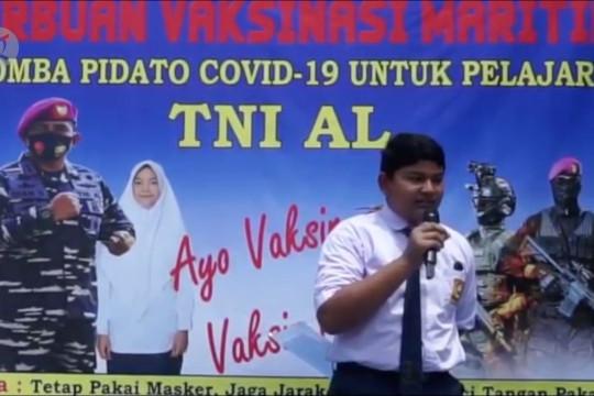Lanal Lhokseumawe gelar lomba pidato untuk sosialisasikan vaksinasi