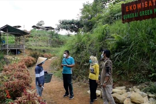 Menikmati teh di ekowisata bukik Sungkai Kota Padang