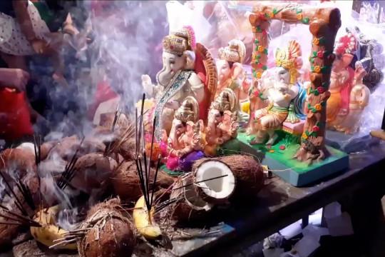 Negara Bagian Maharashtra India tutup Festival Ganesh Chaturthi