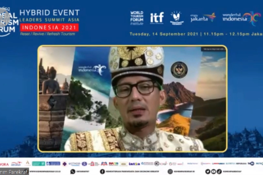 Tuan rumah GTF 2021, Sandi Uno optimistis pariwisata bangkit