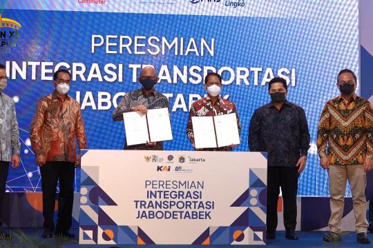 Proyek integrasi transportasi Jabodetabek diresmikan