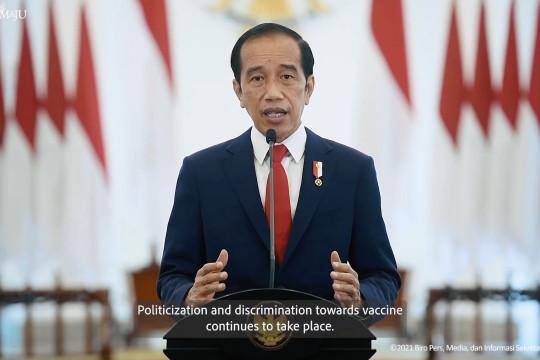 Presiden Jokowi singgung soal ketimpangan vaksin di pidato PBB