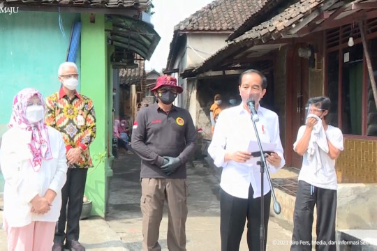Presiden kunjungan kerja ke Jateng sambil tinjau program vaksinasi