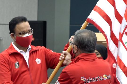 Anies lepas kontingen DKI Jakarta bertanding ke PON XX Papua