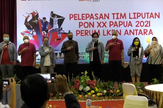 LKBN Antara melepaskan tim peliputan PON XX Papua