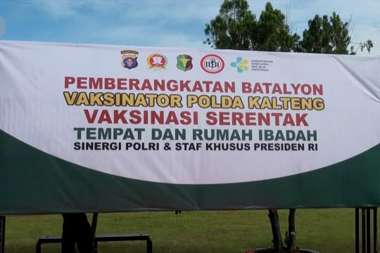 Percepatan vaksinasi, Kapolda Kalteng terjunkan 130 personel Batalyon Vaksinator