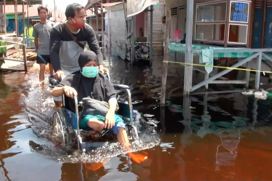 Sempat surut, banjir kembali terjadi di Palangka Raya
