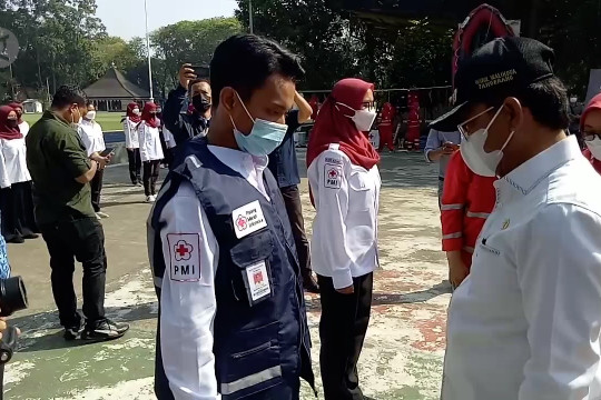 PMI Kota Tangerang lantik 105 relawan pengawal pandemi