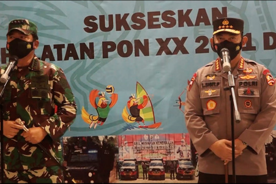 Kapolri: 11 ribu personel TNI-Polri disiagakan di PON XX