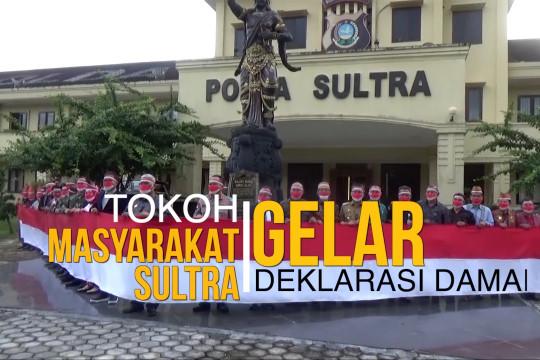 Tokoh masyarakat Sultra gelar deklarasi damai