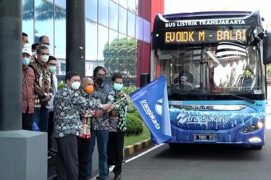TransJakarta luncurkan bus listrik untuk diuji coba