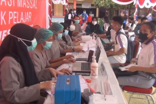 Vaksinasi pelajar di Ambon sudah mencapai 45,8 persen