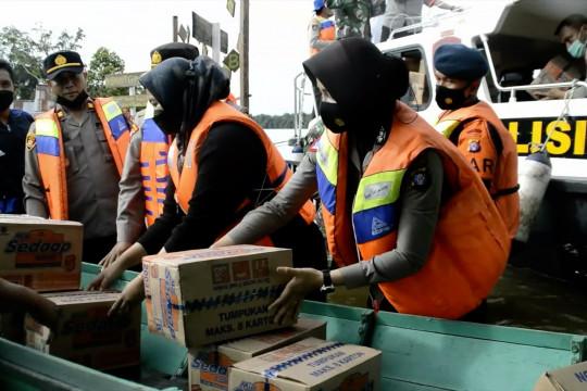 Polres Katingan salurkan 250 paket sembako ke 4 desa terdampak banjir
