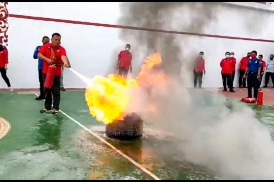 Rutan Kelas IIB Serang gelar simulasi penanganan kebakaran