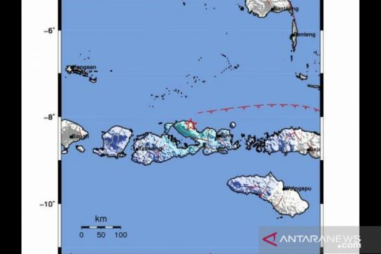 Gempa kedalaman 22 km guncang Bima akibat sesar naik busur belakang