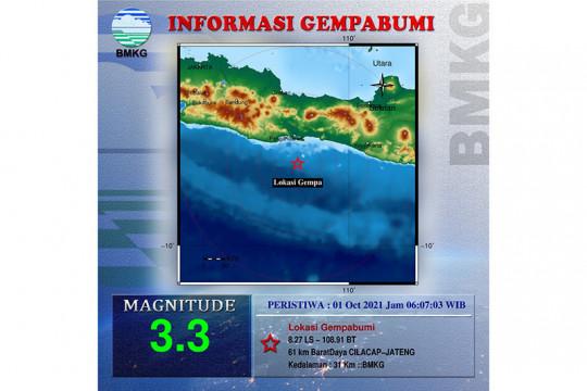 BMKG: Cilacap diguncang gempa dua kali pada Jumat pagi