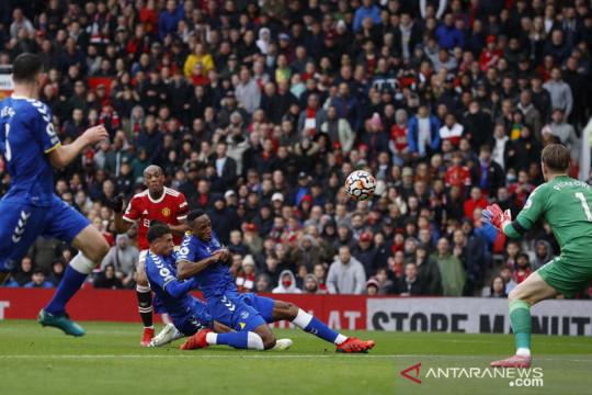 Manchester United hanya bisa bermain imbang 1-1 lawan Everton