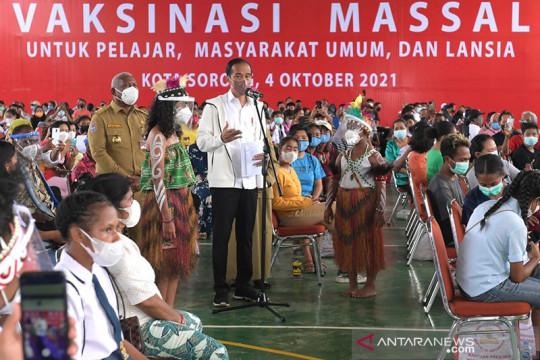 Presiden Jokowi apresiasi percepatan vaksinasi di Papua Barat