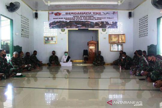 Kodim 0116/Nagan Raya Aceh gelar doa bersama saat HUT ke-76 TNI