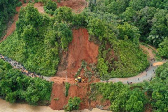 BPBD Luwu sebut akses desa terisolir akibat longsor mulai terbuka