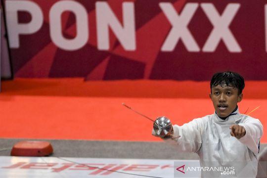 Atlet anggar putra Riau M Fuad rebut emas PON Papua