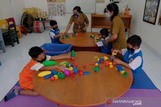 Siswa di Sekolah Tunarungu Sushrusa Denpasar laksanakan PTM