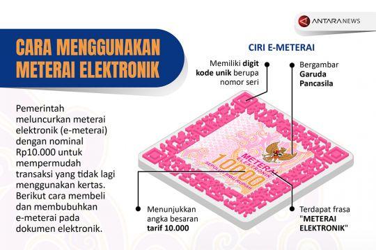 Cara menggunakan meterai elektronik