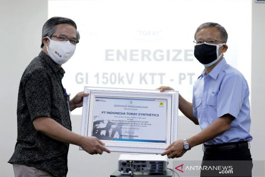 PLN pasok listrik 45,38 MVA ke produsen serat sintetis di Banten
