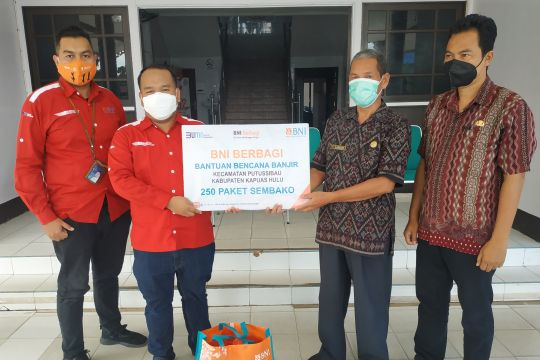 BNI salurkan bantuan untuk korban banjir di Kapuas Hulu Kalbar