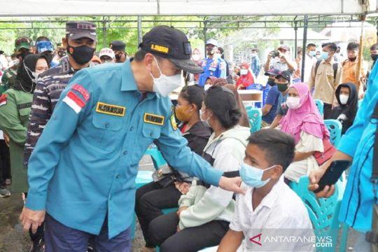 TNI AL dan Pemprov Riau lakukan Serbuan Vaksin di pulau terluar