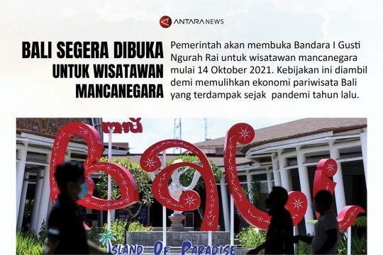 Bali segera dibuka untuk  wisatawan mancanegara