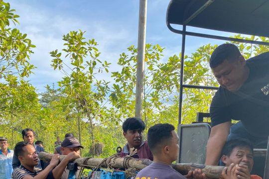 Polisi menertibkan tambang emas ilegal di Mentebah Kapuas Hulu