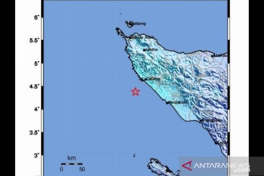 Gempa bumi Magnitudo 5,6 di Aceh Jaya akibat aktivitas subduksi