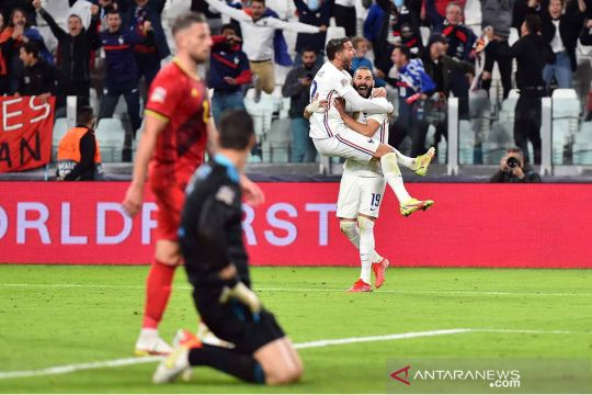 Prancis melaju ke final Nations League usai tundukkan Belgia 3-2