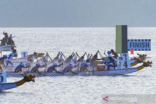 Papua dan Jabar raih emas perahu naga 500 meter