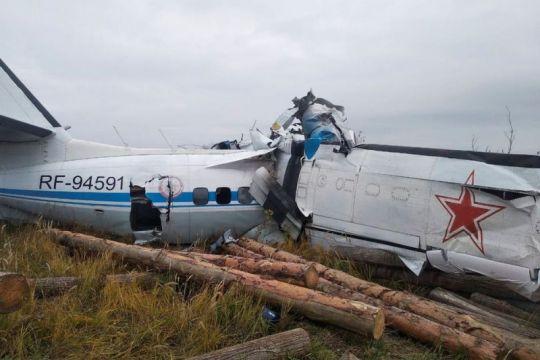 Pesawat penerjun payung Rusia jatuh, 16 orang tewas