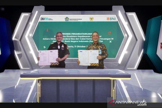 Permudah layanan logistik, Bea Cukai-BNI jalin kerja sama NLE
