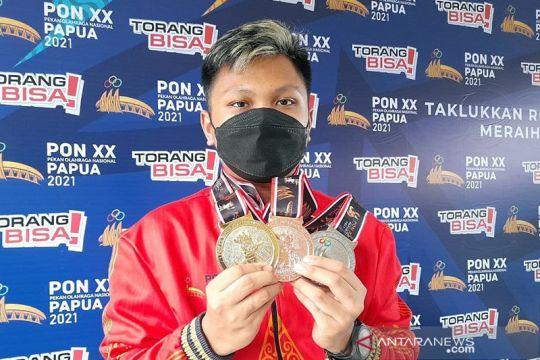 Emas Iqbal terbayarkan pada nomor pistol campuran PON Papua