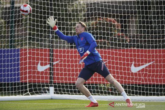Latihan timnas Inggris jelang laga kualifikasi UEFA melawan Hungaria