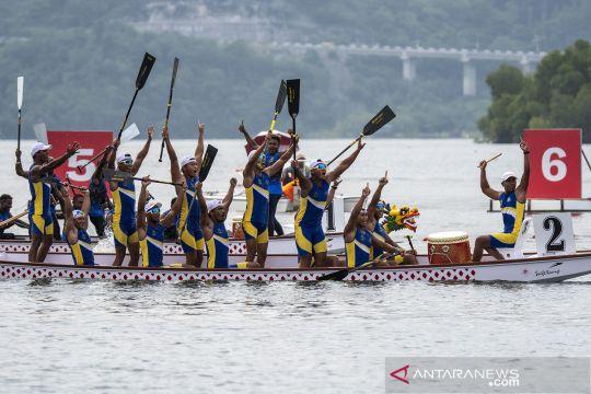 Jabar rebut emas Traditional Boat Race 200 meter putra PON Papua